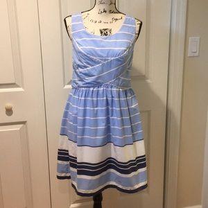 Max Studio Nautical cotton stripe sundress Sz Sm
